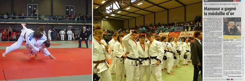 Lola Mansour Championne de Belgique Judo